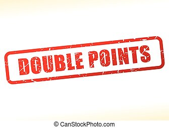 double, points, texte, buffered