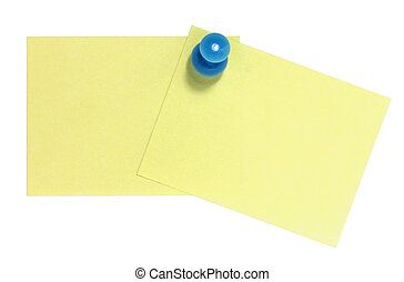 Double postit with blue pin
