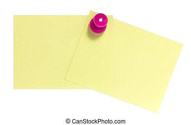 Double postit with pink pin