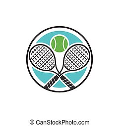 Double Racket Tennis Sport Symbol