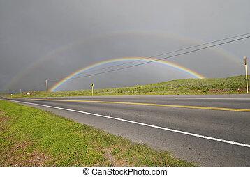 Double Rainbow, Big Island, Hawaii