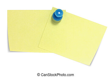 Double rectangular sticky note