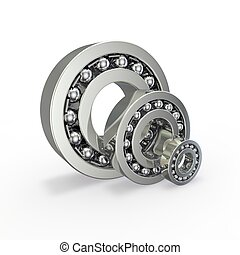 Double row ball bearing isolated on white background