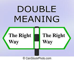 double sens, concept