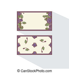Double-sided card with  abstract roses.