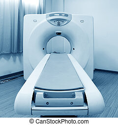 Double spiral CT - CT (Computed tomography) scanner in...