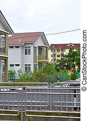 Double storey house in new estate