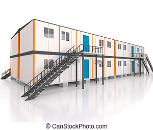 Double story 3d view portable cabin container