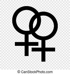 double, symbole, femme