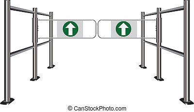 Double turnstile