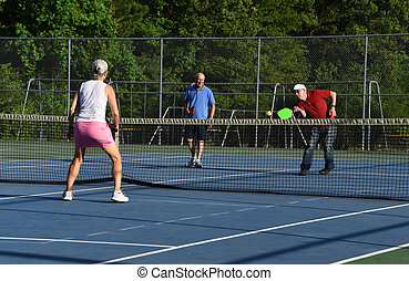 Doubling up to Play Pickle Ball