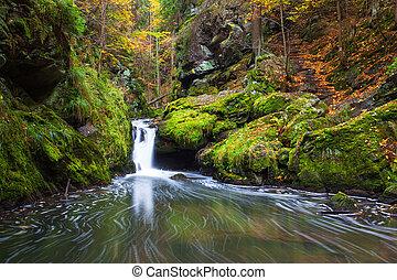 Doubravka river in autumn