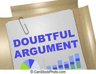 Doubtful  Argument concept
