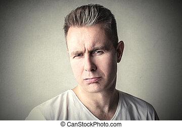 Doubtful man - Portrait of doubtful man