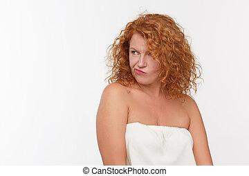 Doubtful mature woman