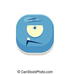 Doubtful Monster Square Icon