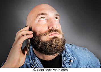 doubting man speaking on the phone