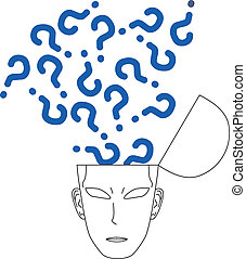 Doubts face - Creative design of doubts face