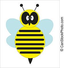 douche bébé, à, a, mignon, bee., vecteur