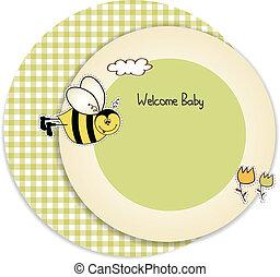 douche bébé, invitation