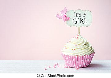douche bébé, petit gâteau