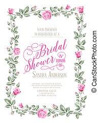 douche, bridal, invitation.
