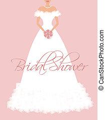 douche, bridal, uitnodiging