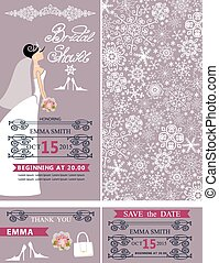 douche, cards.bride, bridal, ornament, trouwfeest