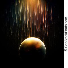 douche, météore