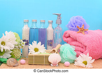 douche, produits, bain