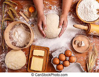 Dough background