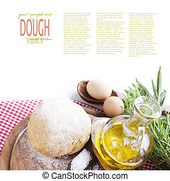Dough ball - Fresh dough balls with egg, olive oil, fresh...