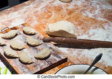 Dough flour dough products