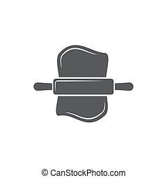 Dough icon on white background