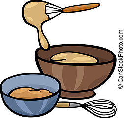 baker whisking in mixing bowl illustration of a baker clip art rh canstockphoto com Mixing Bowl and Spoon Clip Art mixing bowl clip art free