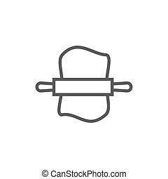 Dough line icon on white background