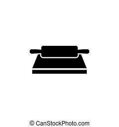 Dough Rolling Pin Flat Vector Icon