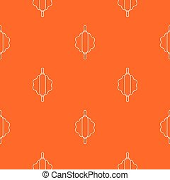 Dough rolling pin pattern vector orange