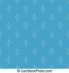 Dough rolling pin pattern vector seamless blue