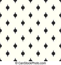 Dough rolling pin pattern vector seamless