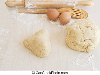 Dough with shape of a heart