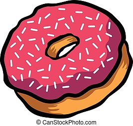 Doughnut cartoon vector icon