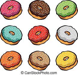 Doughnut cartoon vector icon