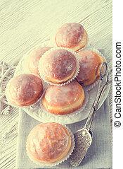 doughnut, -, ouderwetse , stijl