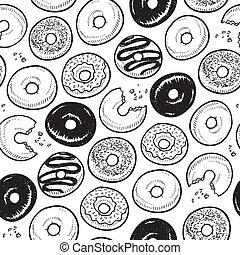doughnut, seamless, achtergrond