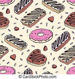 Doughnut Seamless pattern