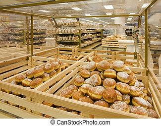 Doughnuts in a grocery store