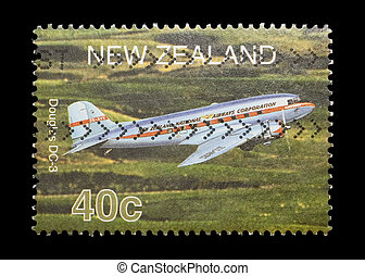 douglas DC-3 - new zealand mail stamp featuring the Douglas ...