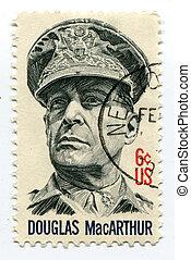 Douglas MacArthur on US postage mark