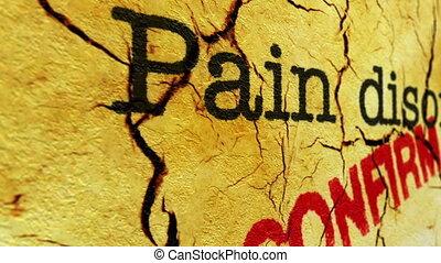 douleur, désordre, confirmer